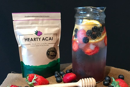 Acai infused water